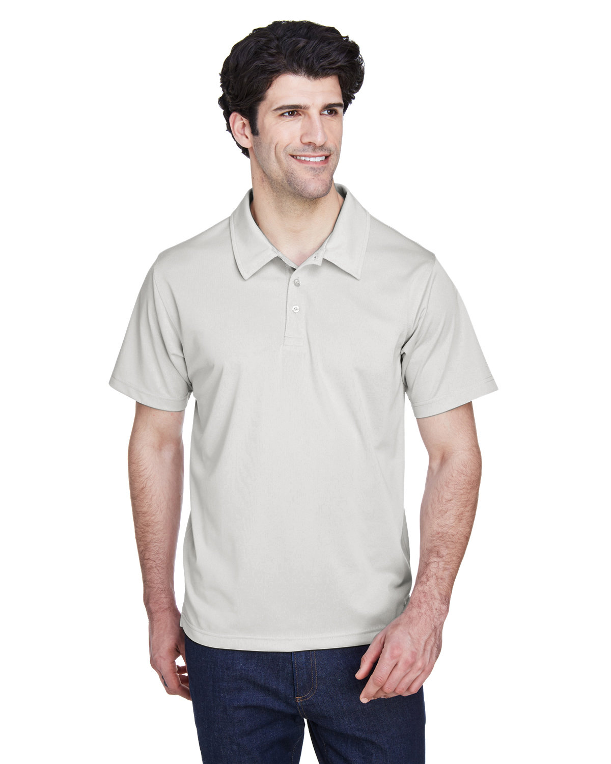 Team 365 Men's Command Snag Protection Polo SPORT SILVER