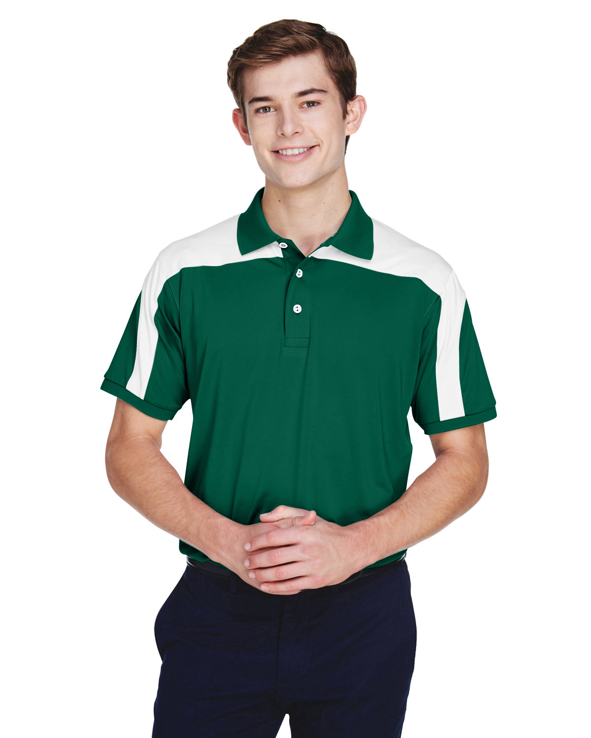 Team 365 Men's Victor Performance Polo SPORT FOREST
