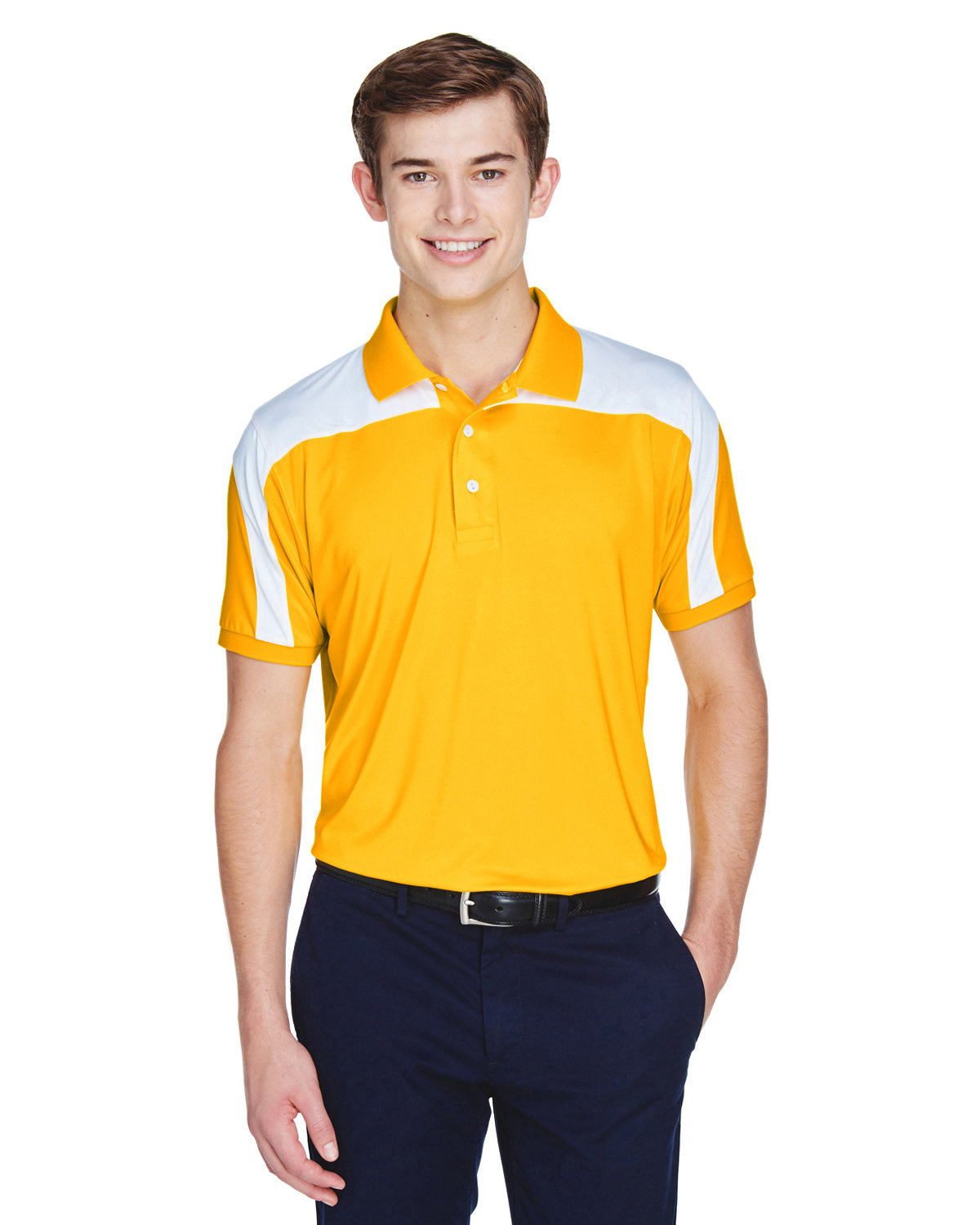 Team 365 Men's Victor Performance Polo SP ATHLETIC GOLD