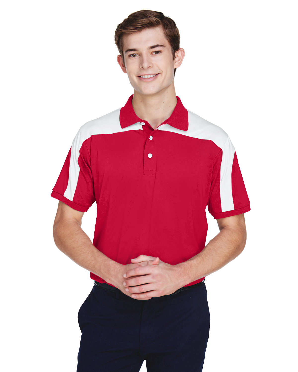 Team 365 Men's Victor Performance Polo SPORT RED