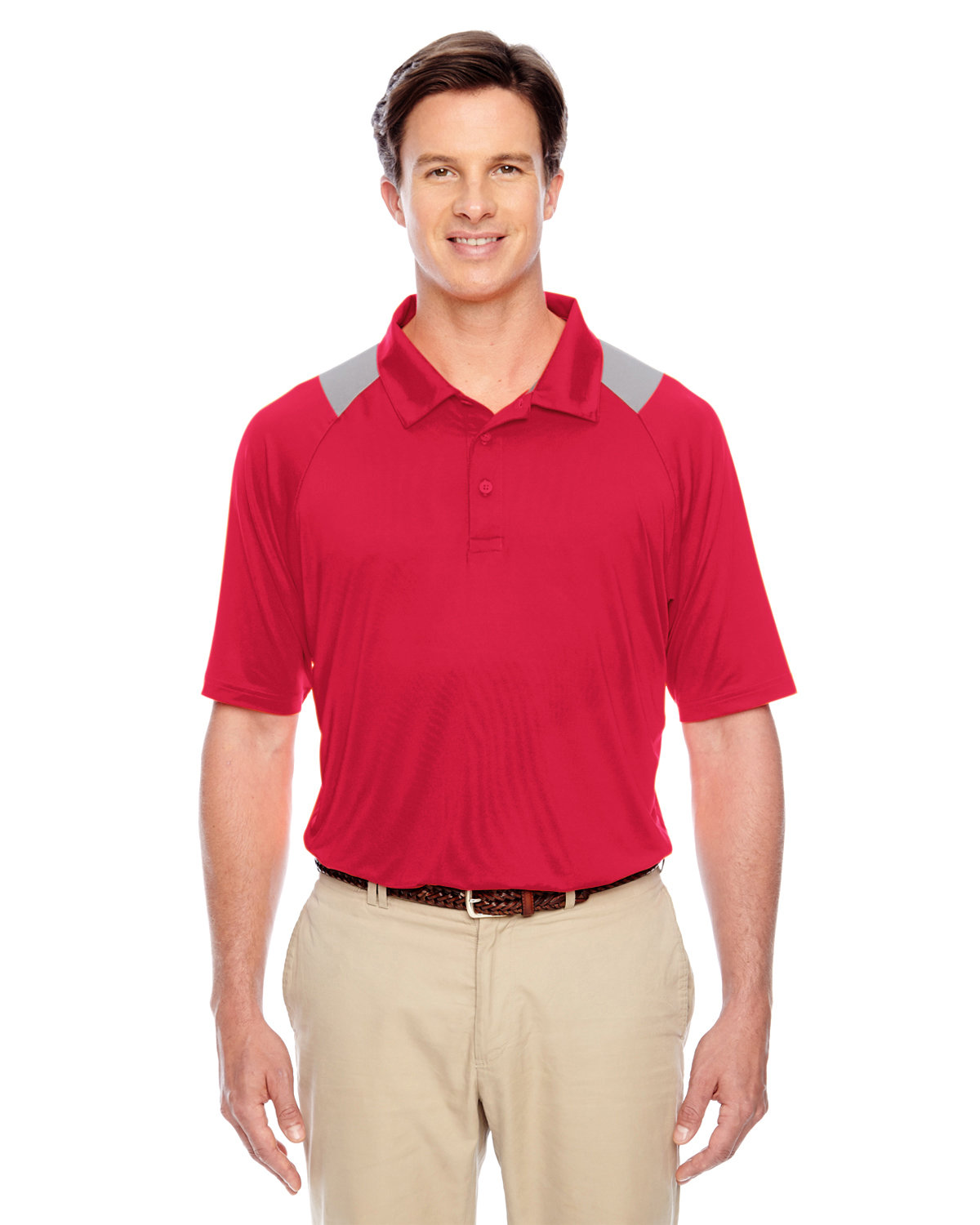 Team 365 Men's Innovator Performance Polo SP RED/ SP GRAPH