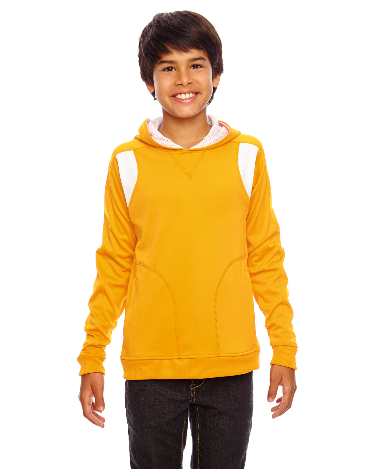 Team 365 Youth Elite Performance Hoodie SP ATH GOLD/ WHT