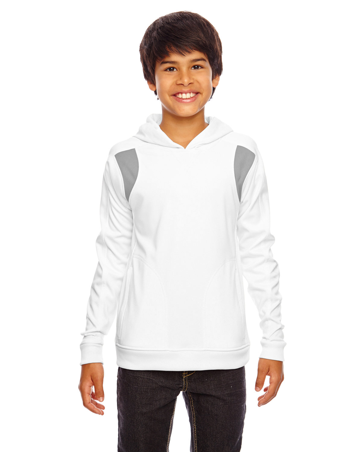 Team 365 Youth Elite Performance Hoodie WHITE/ SP GRPHT