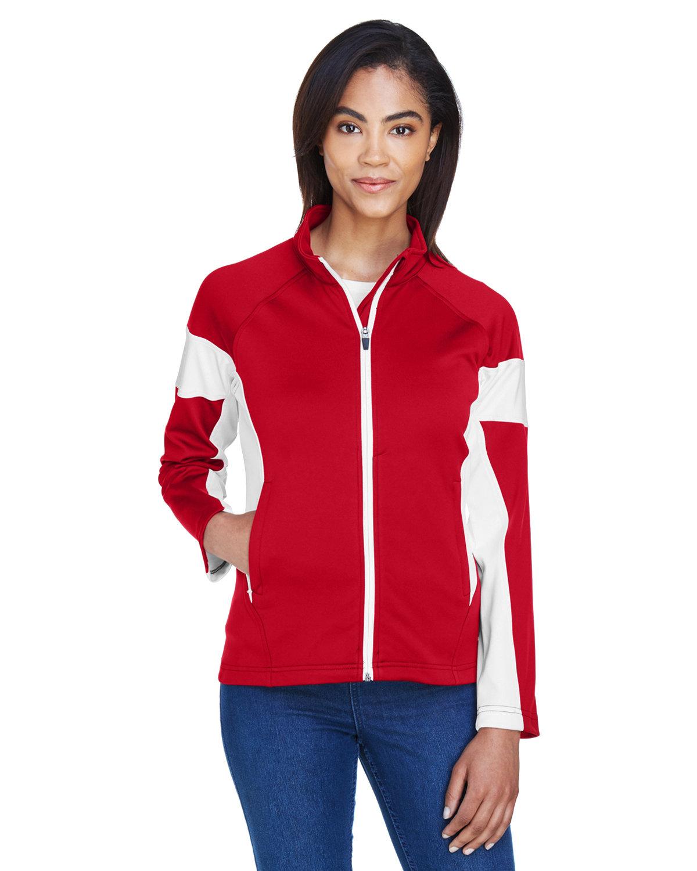 Team 365 Ladies' Elite Performance Full-Zip SPORT RED/ WHITE