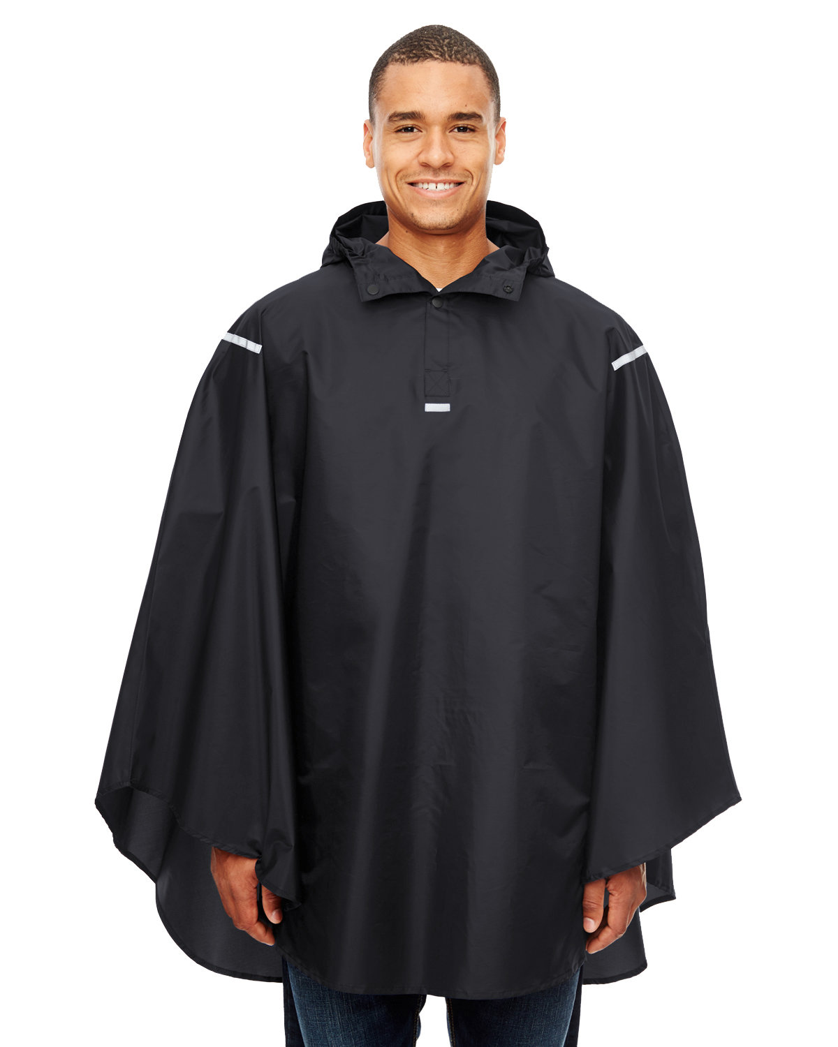 Team 365 Adult Zone Protect Packable Poncho BLACK