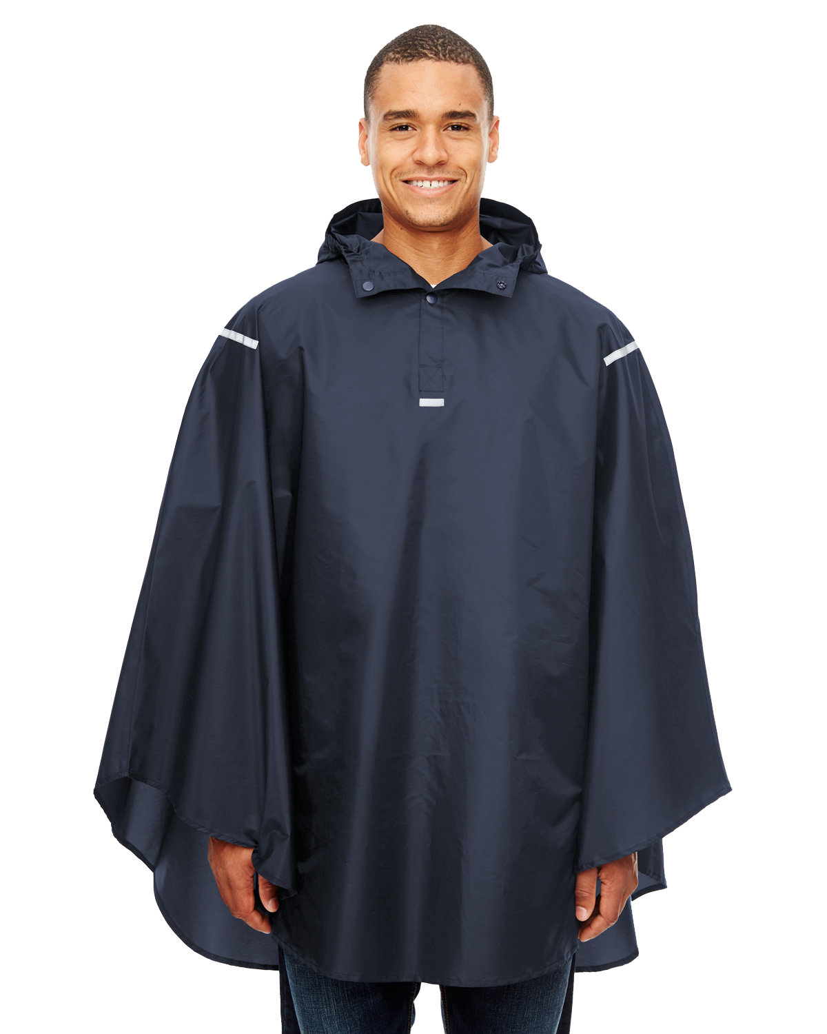 Team 365 Adult Zone Protect Packable Poncho SPORT DARK NAVY