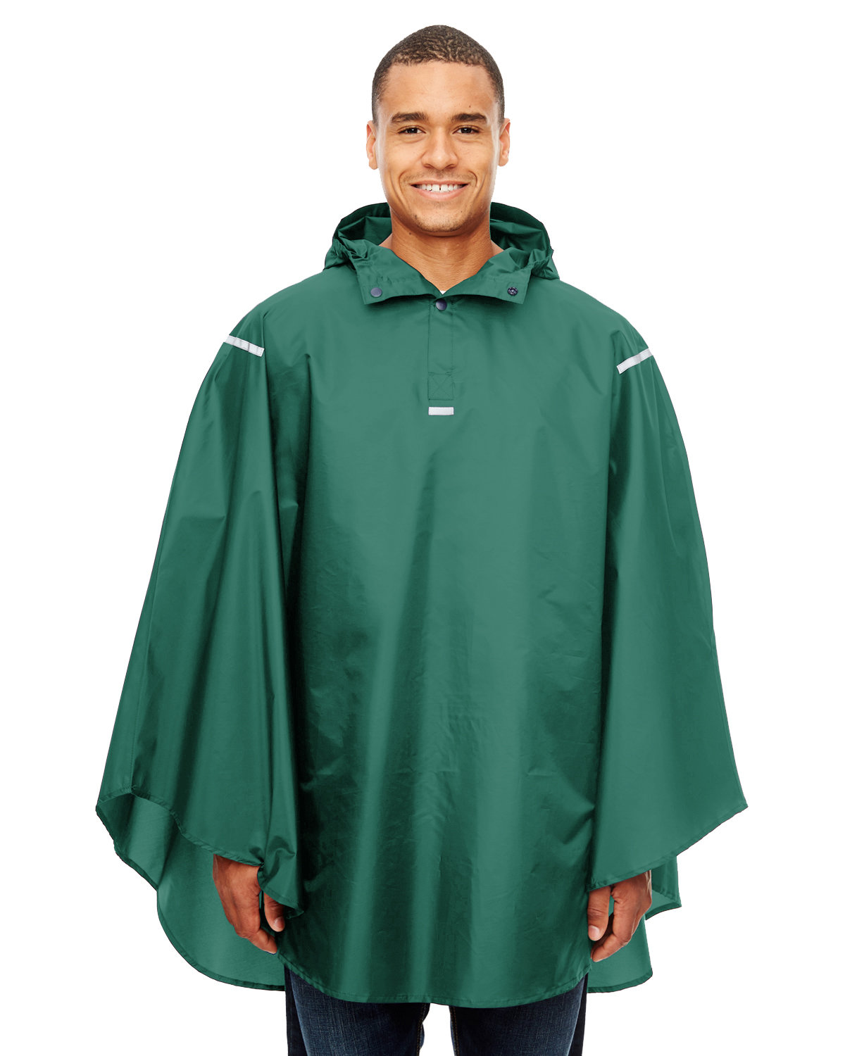 Team 365 Adult Zone Protect Packable Poncho SPORT FOREST