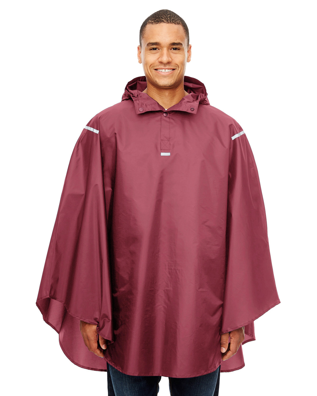 Team 365 Adult Zone Protect Packable Poncho SPORT MAROON