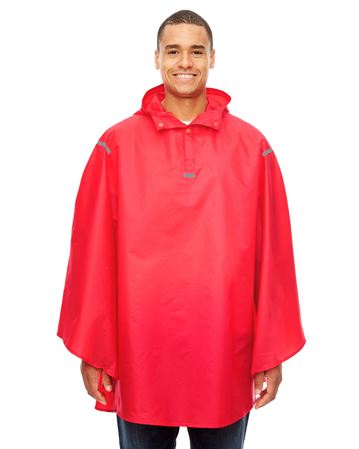 Team 365 Adult Zone Protect Packable Poncho SPORT RED