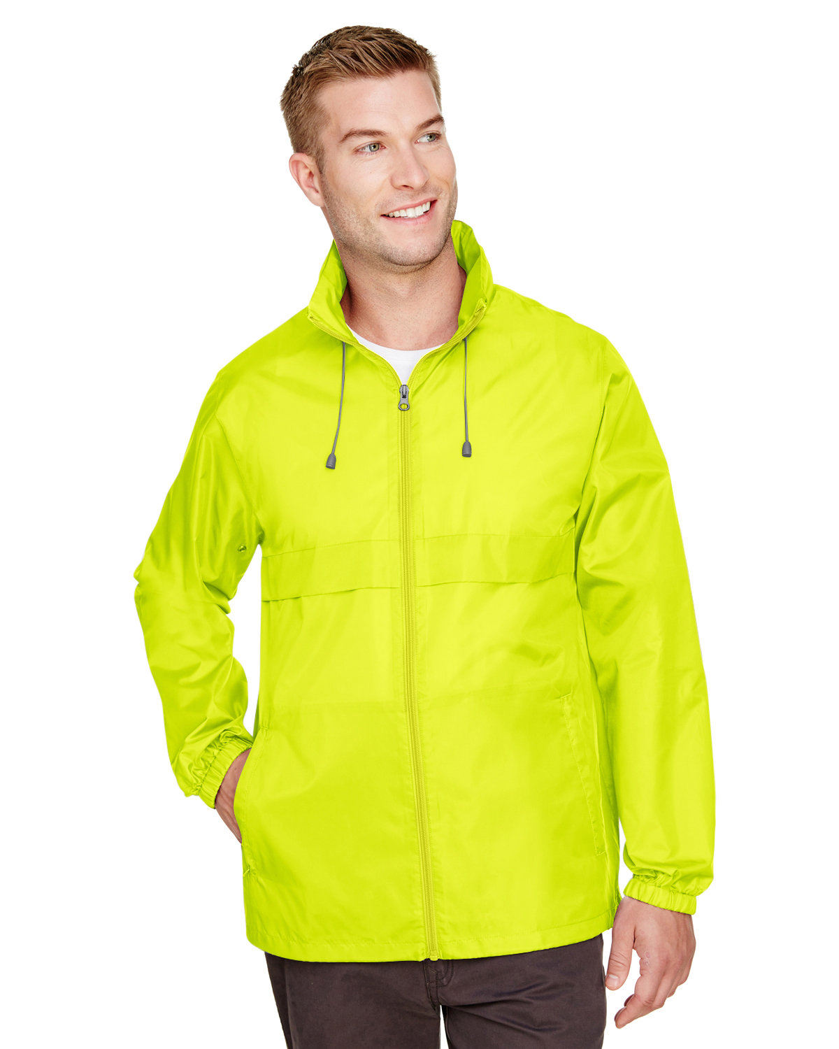 Team 365 Adult Zone Protect Lightweight Jacket SAFETY YELLOW