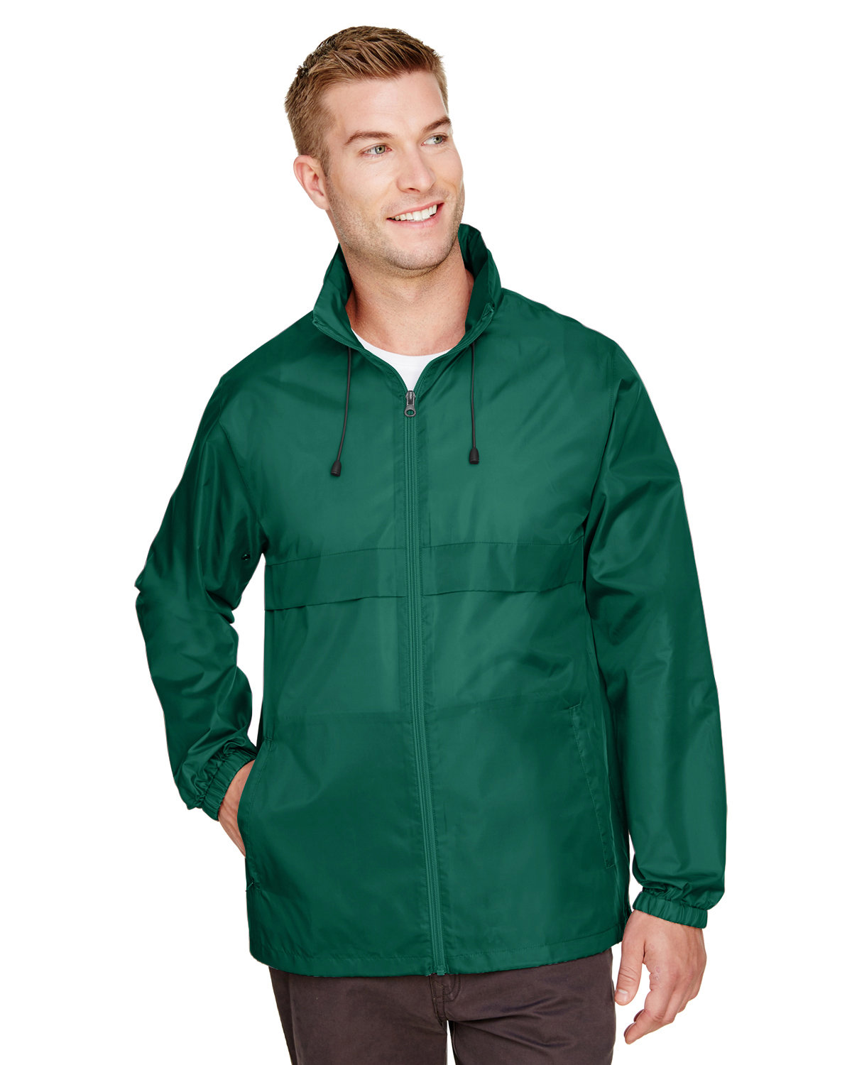 Team 365 Adult Zone Protect Lightweight Jacket SPORT FOREST