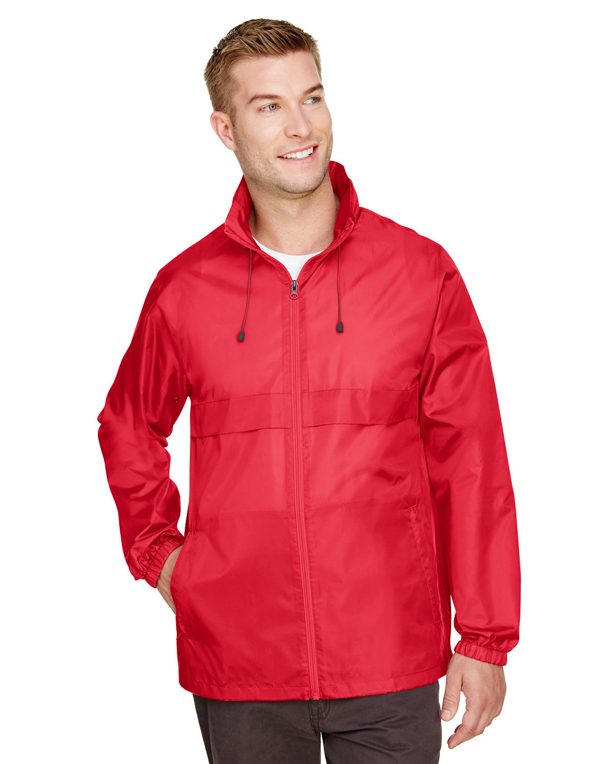 Team 365 Adult Zone Protect Lightweight Jacket SPORT RED
