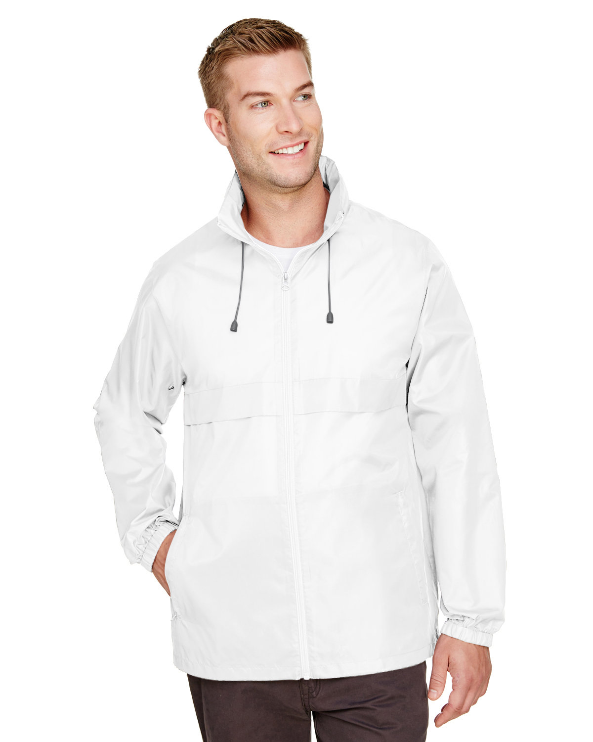 Team 365 Adult Zone Protect Lightweight Jacket WHITE