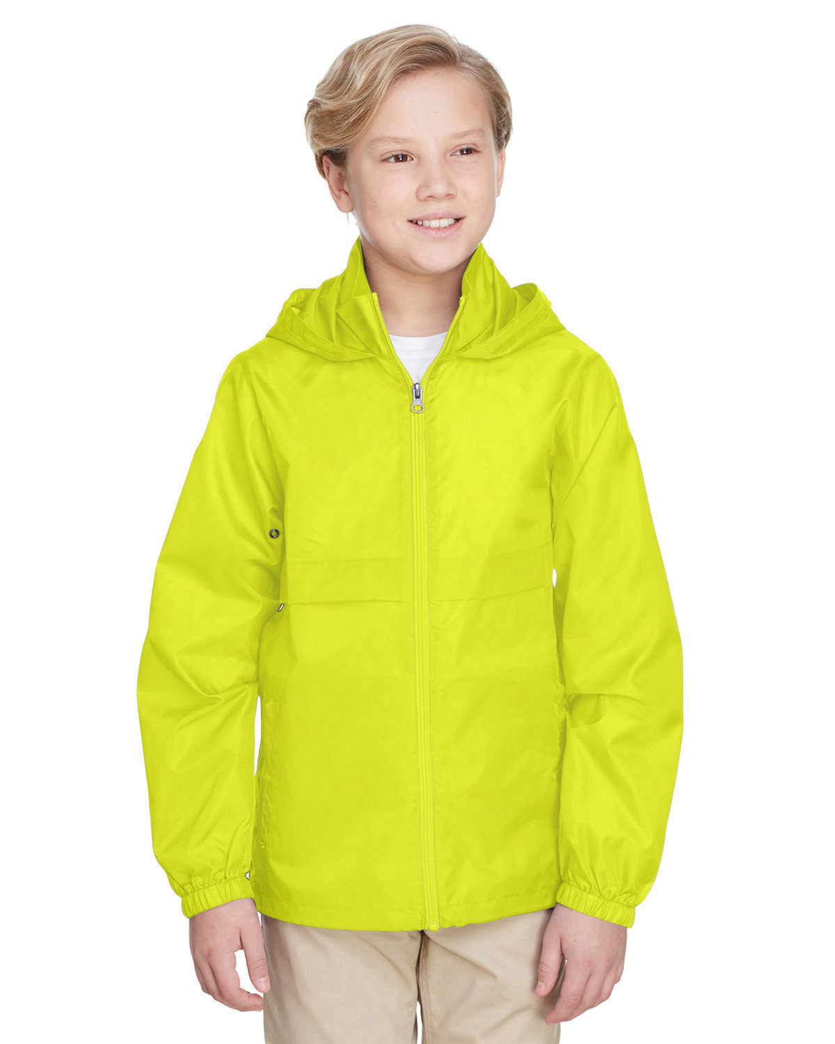 Team 365 Youth Zone Protect Lightweight Jacket SAFETY YELLOW