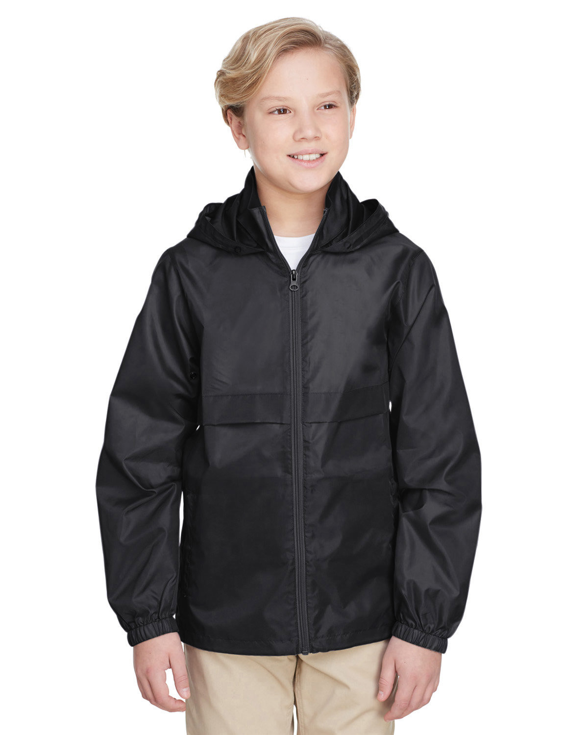 Team 365 Youth Zone Protect Lightweight Jacket BLACK