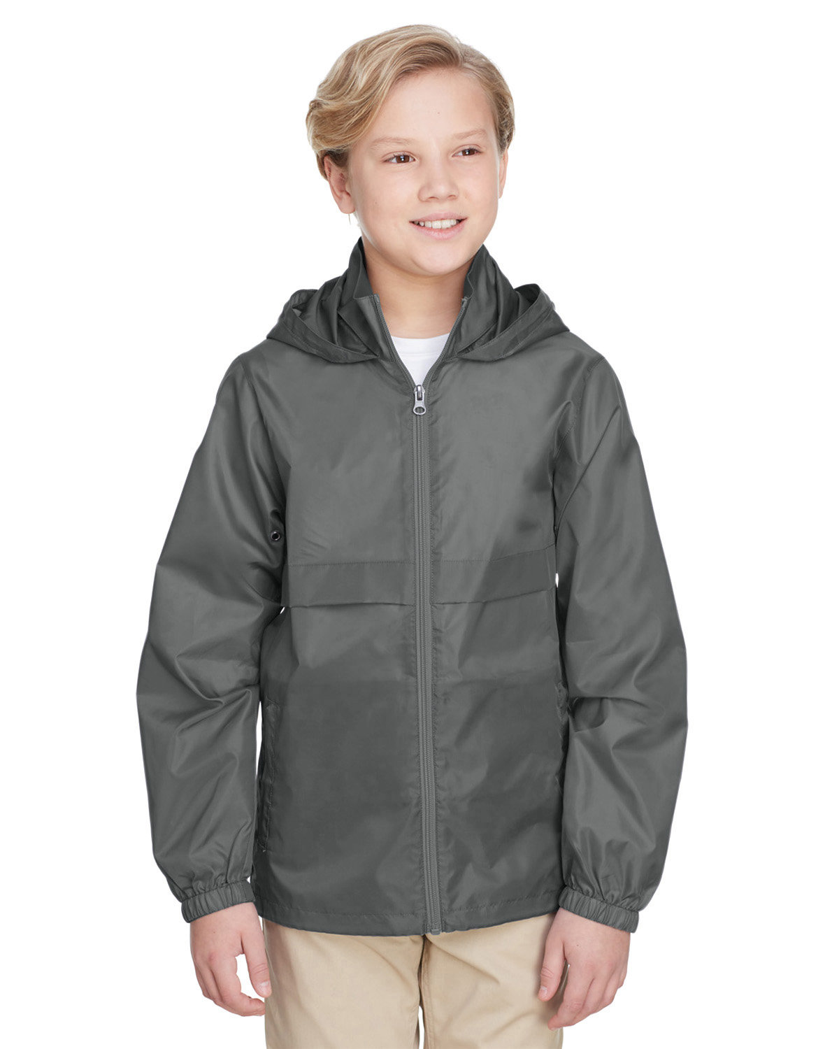 Team 365 Youth Zone Protect Lightweight Jacket SPORT GRAPHITE