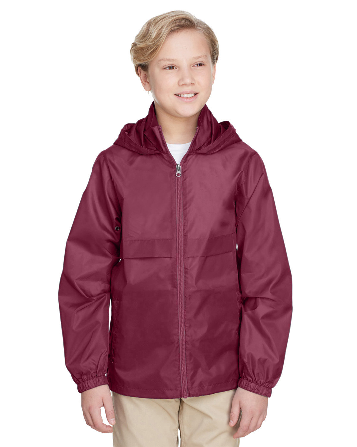 Team 365 Youth Zone Protect Lightweight Jacket SPORT MAROON