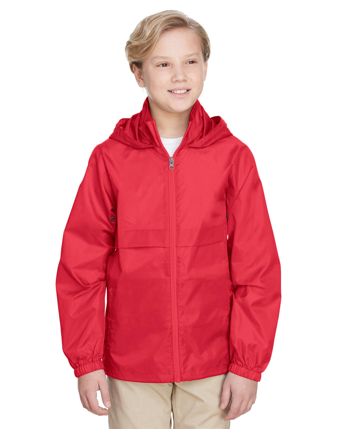 Team 365 Youth Zone Protect Lightweight Jacket SPORT RED