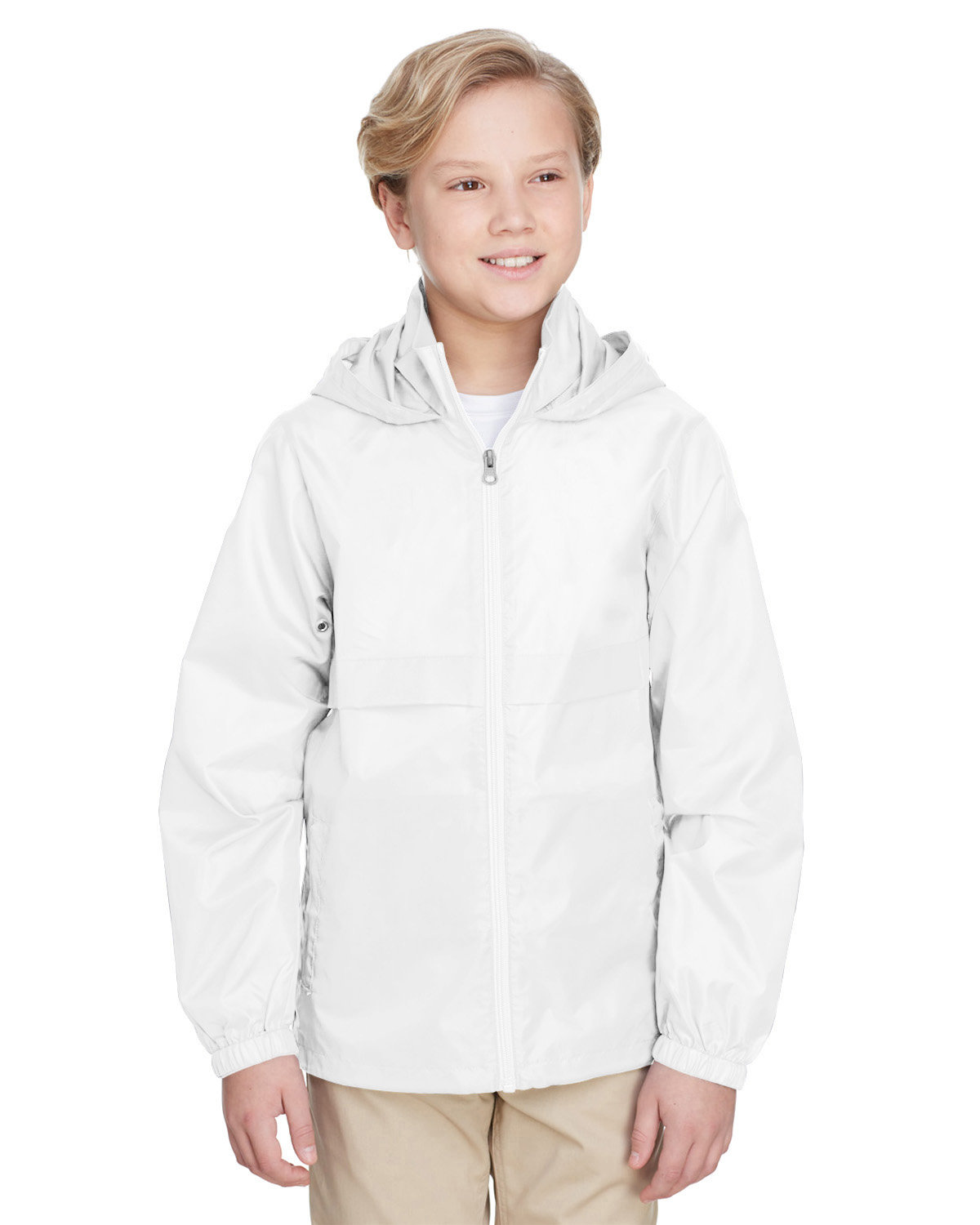 Team 365 Youth Zone Protect Lightweight Jacket WHITE