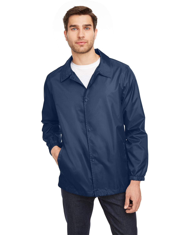 Team 365 Adult Zone Protect Coaches Jacket SPORT DARK NAVY