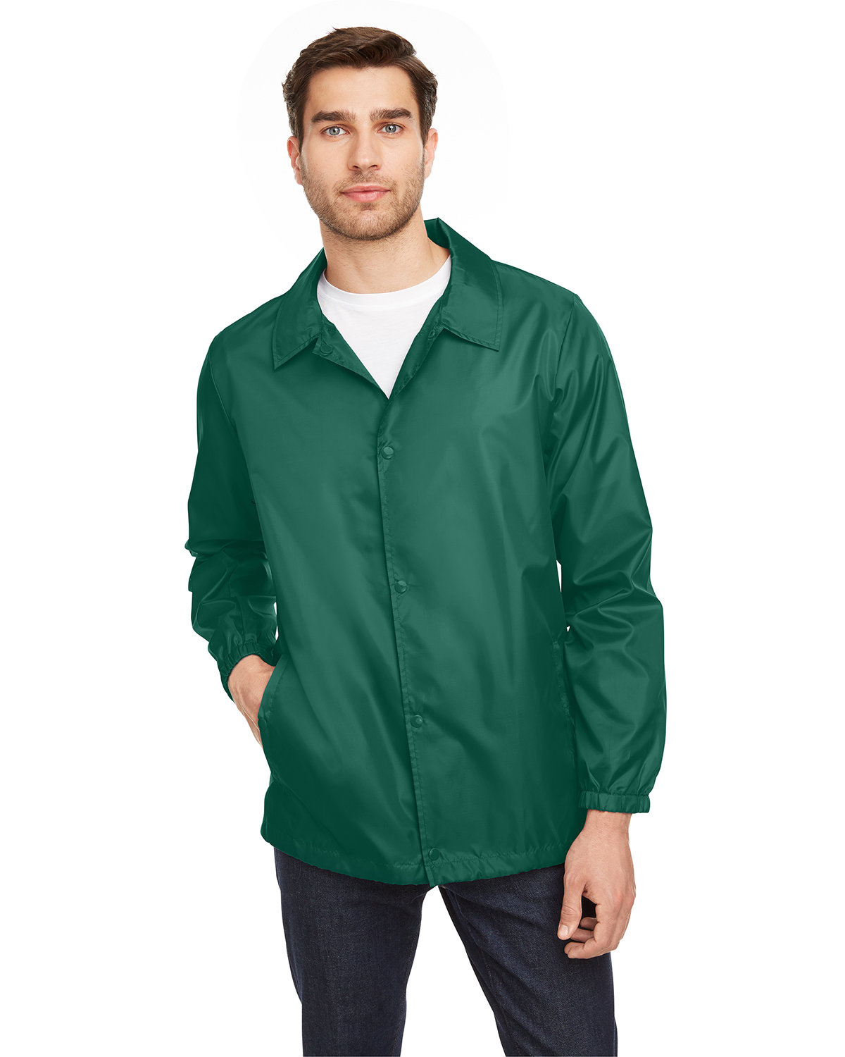 Team 365 Adult Zone Protect Coaches Jacket SPORT FOREST