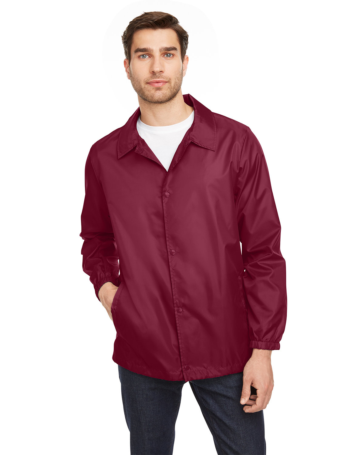 Team 365 Adult Zone Protect Coaches Jacket SPORT MAROON