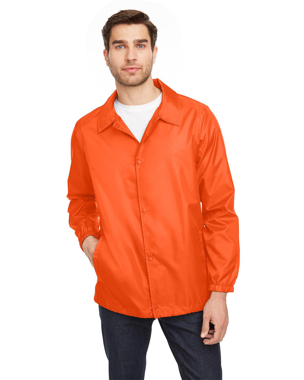 Team 365 Adult Zone Protect Coaches Jacket SPORT ORANGE