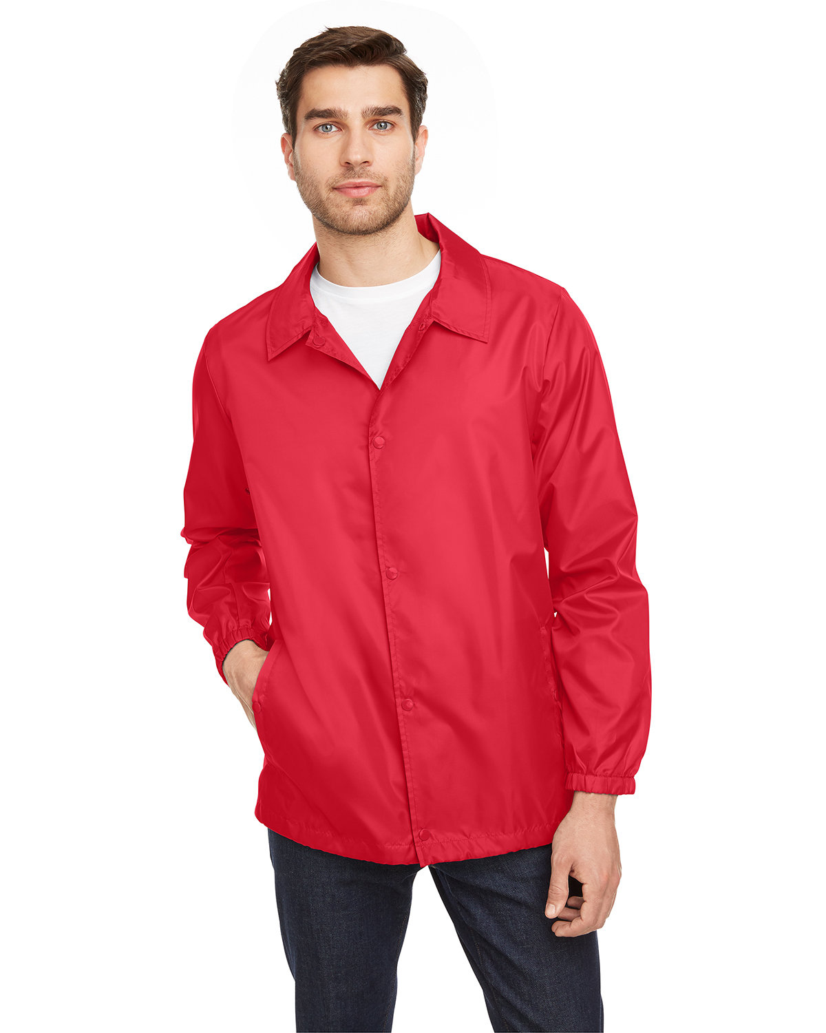 Team 365 Adult Zone Protect Coaches Jacket SPORT RED