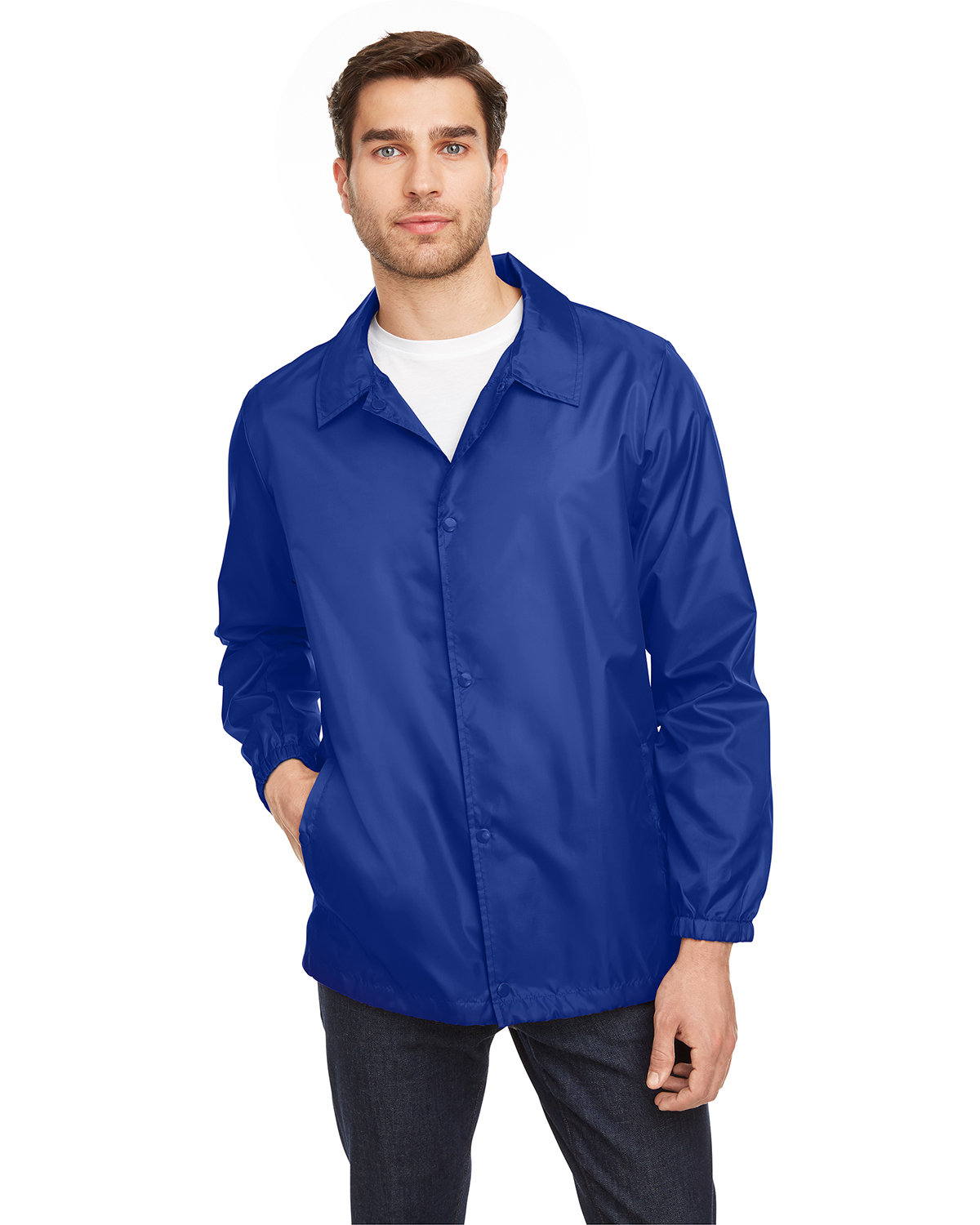 Team 365 Adult Zone Protect Coaches Jacket SPORT ROYAL