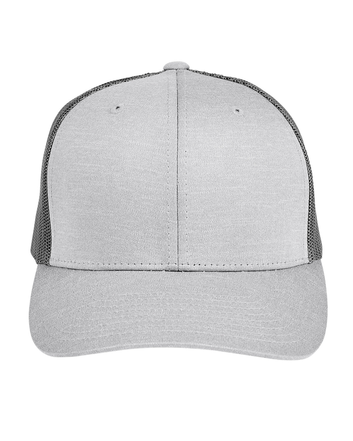 Team 365 by Yupoong® Adult Zone Sonic Heather Trucker Cap ATH HTHR/ SP GRP