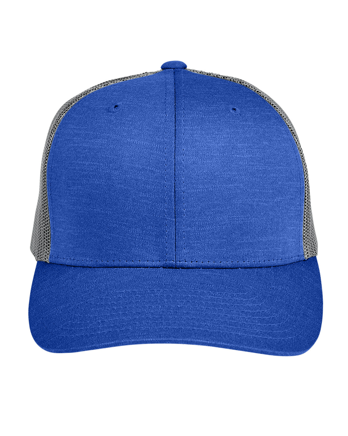 Team 365 by Yupoong® Adult Zone Sonic Heather Trucker Cap SP RYL HT/ SP GR