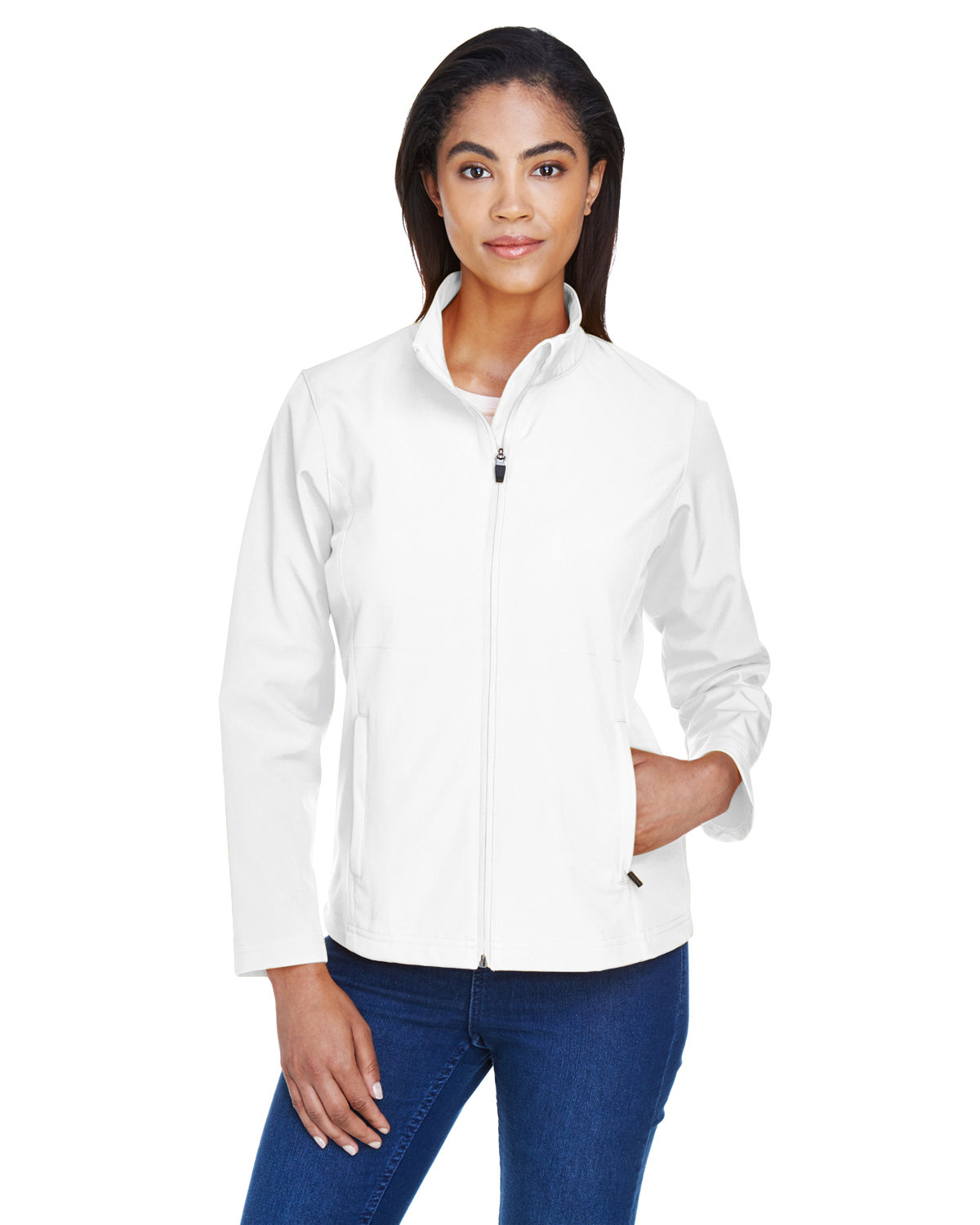 Team 365 Ladies' Leader Soft Shell Jacket WHITE