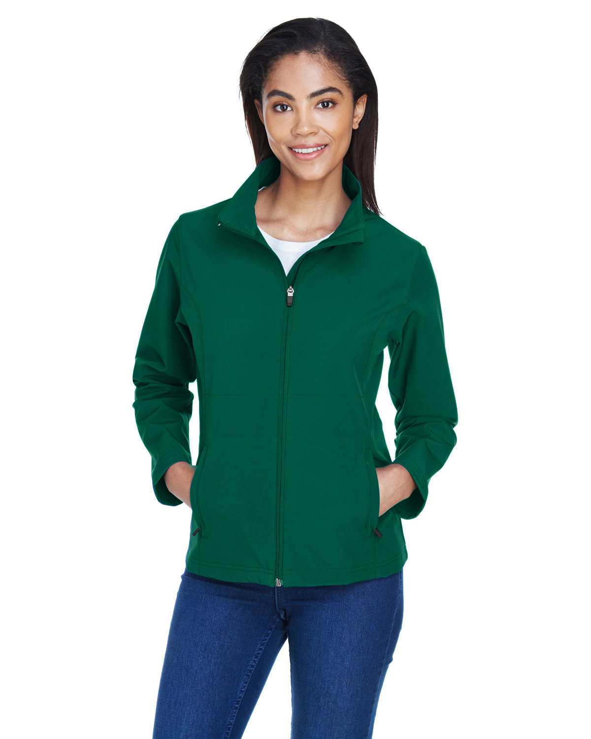 Team 365 Ladies' Leader Soft Shell Jacket SPORT FOREST