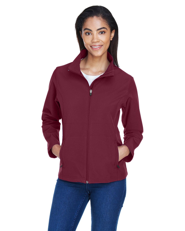 Team 365 Ladies' Leader Soft Shell Jacket SPORT MAROON
