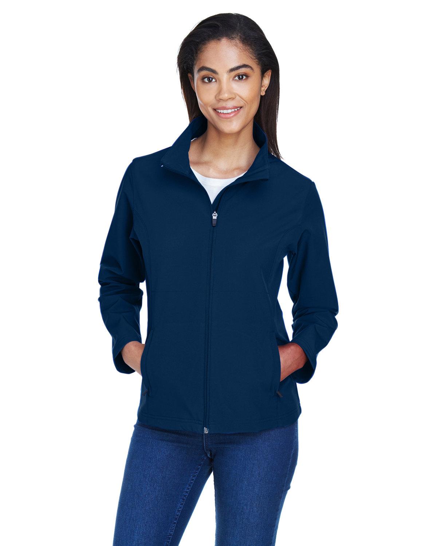 Team 365 Ladies' Leader Soft Shell Jacket SPORT DARK NAVY