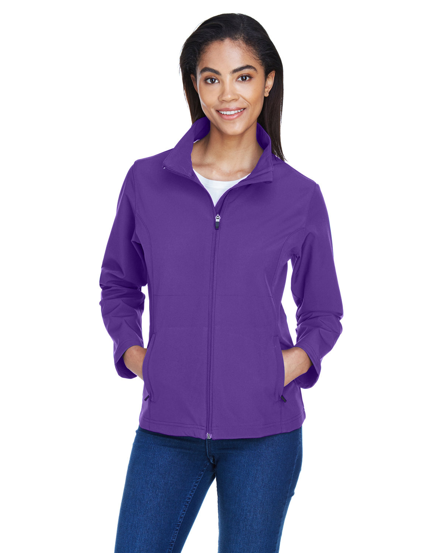 Team 365 Ladies' Leader Soft Shell Jacket SPORT PURPLE