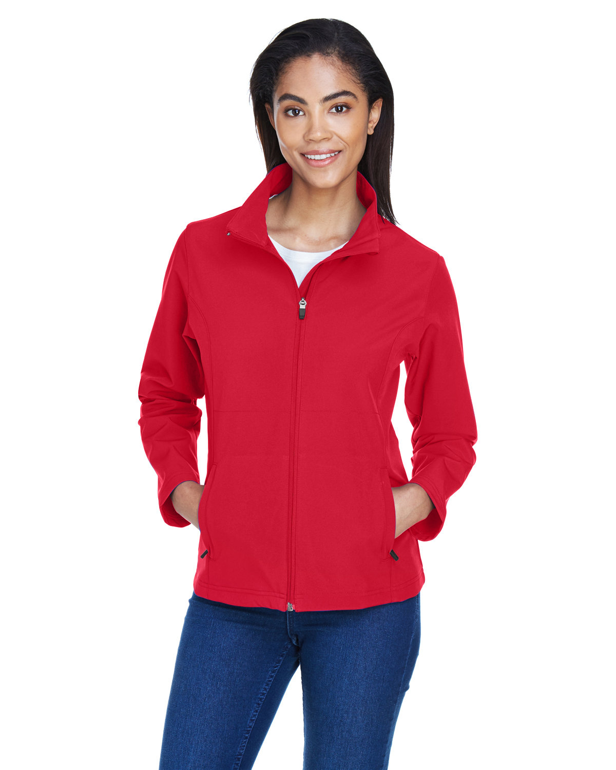 Team 365 Ladies' Leader Soft Shell Jacket SPORT RED