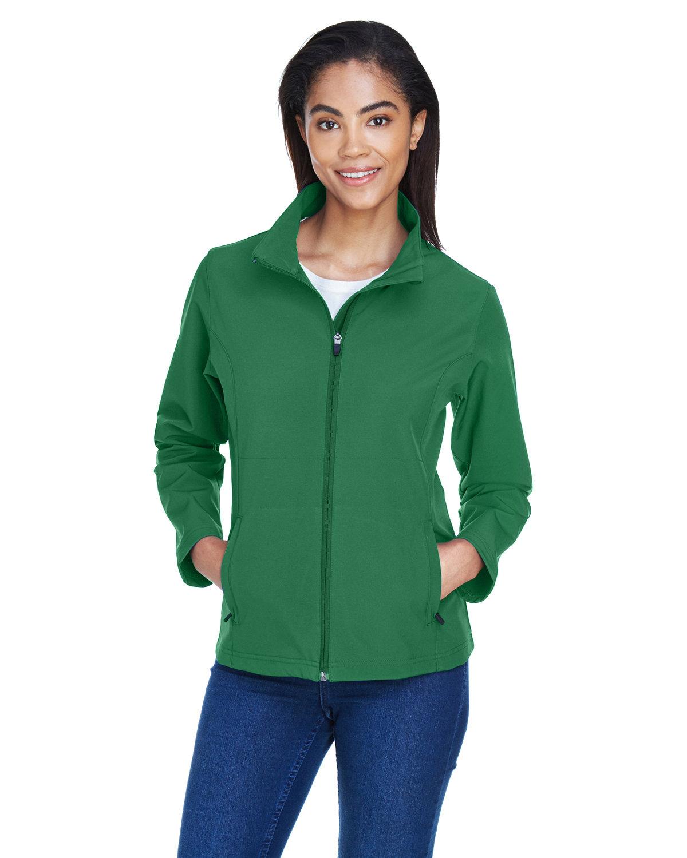 Team 365 Ladies' Leader Soft Shell Jacket SPORT DARK GREEN
