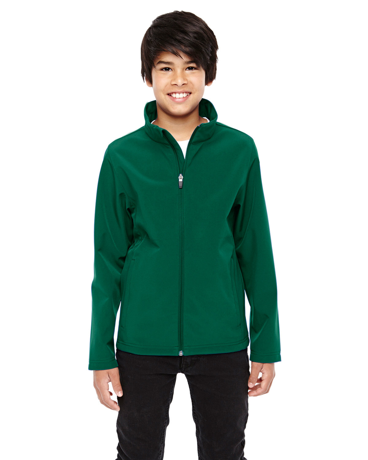 Team 365 Youth Leader Soft Shell Jacket SPORT FOREST