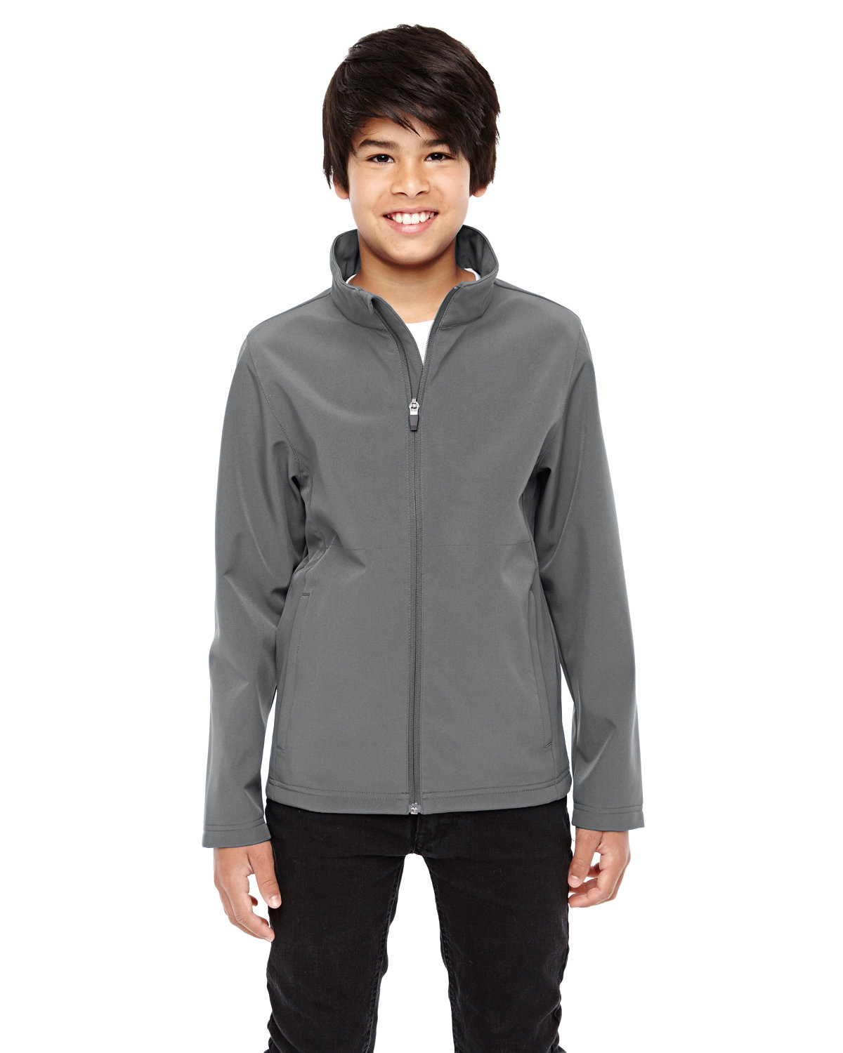 Team 365 Youth Leader Soft Shell Jacket SPORT GRAPHITE