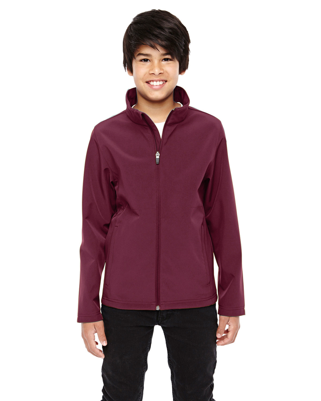 Team 365 Youth Leader Soft Shell Jacket SPORT MAROON
