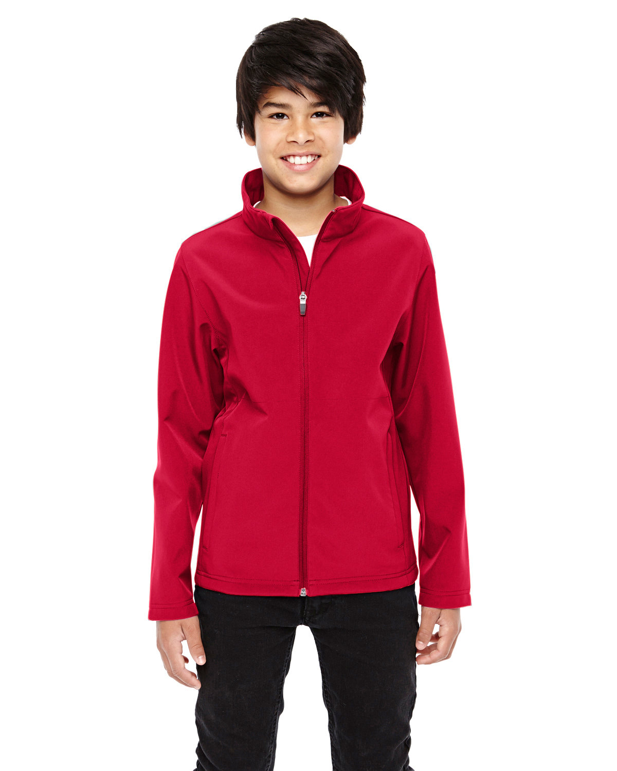 Team 365 Youth Leader Soft Shell Jacket SPORT RED
