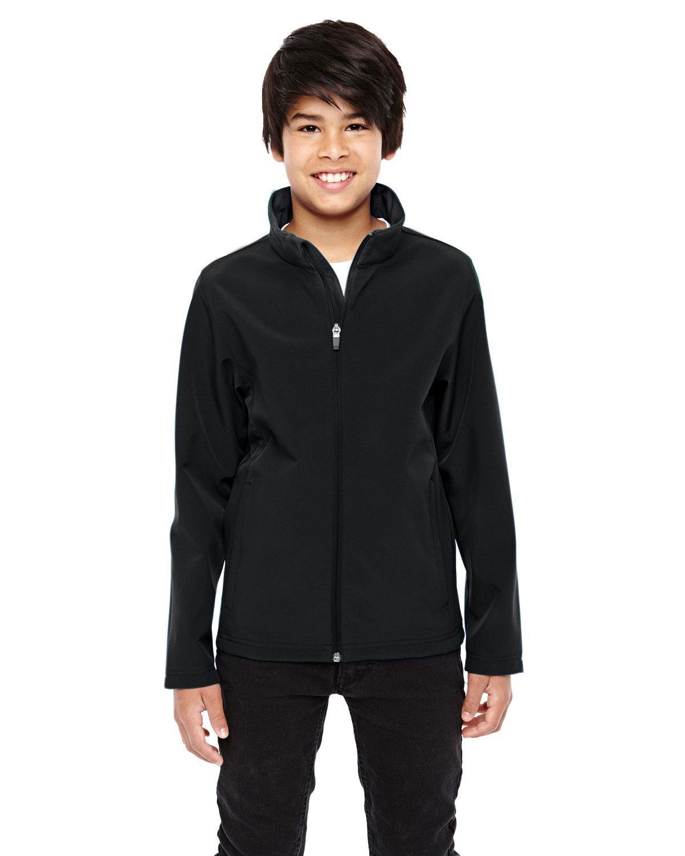 Team 365 Youth Leader Soft Shell Jacket BLACK
