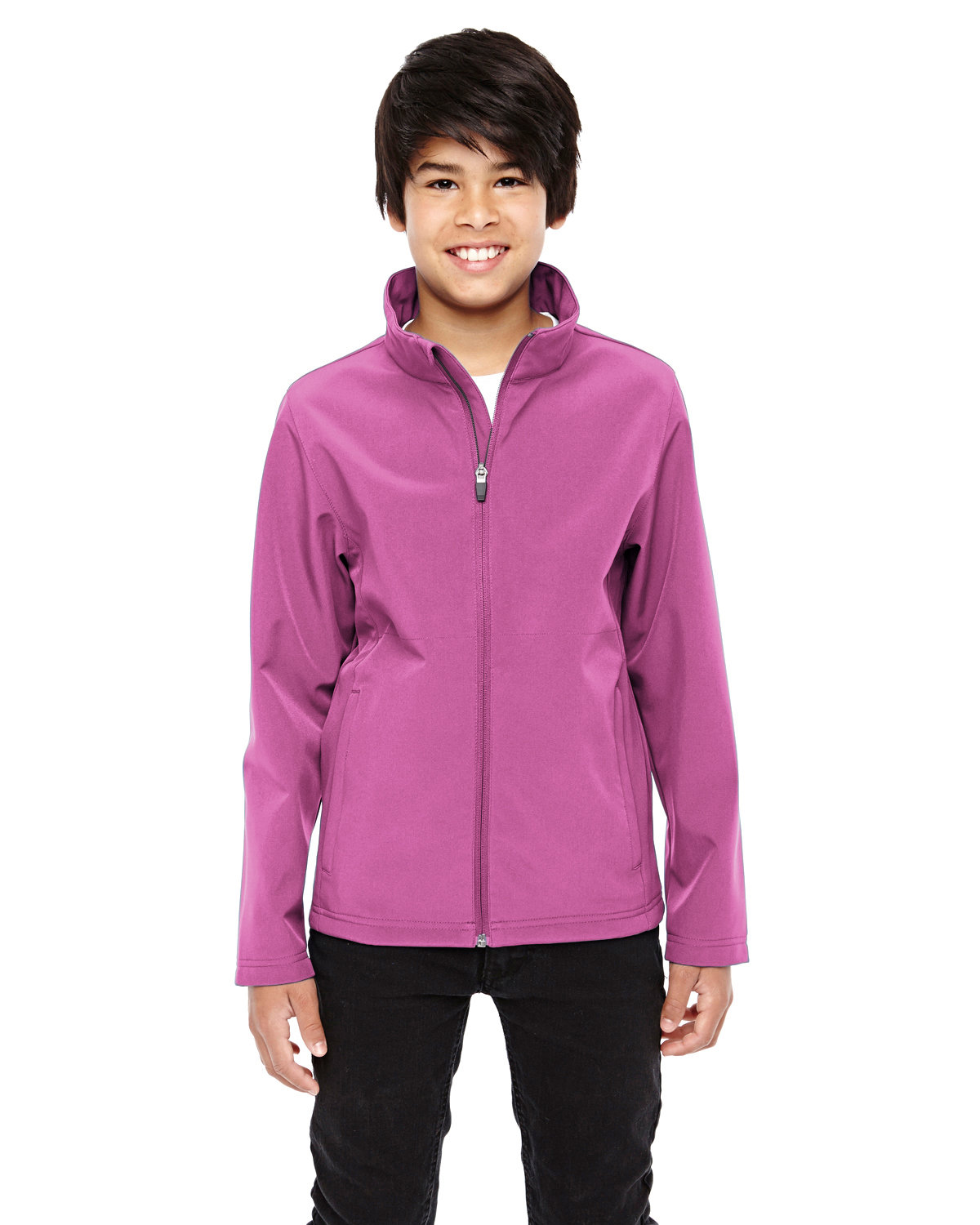 Team 365 Youth Leader Soft Shell Jacket SP CHARITY PINK