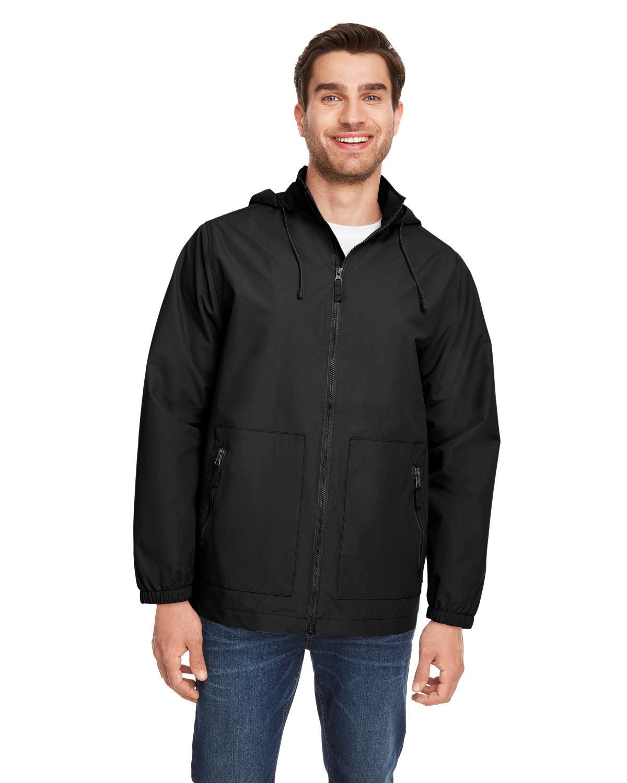 Team 365 Unisex Zone HydroSport™ Storm Flap Jacket BLACK