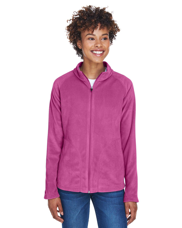 Team 365 Ladies' Campus Microfleece Jacket SPORT CHRTY PINK