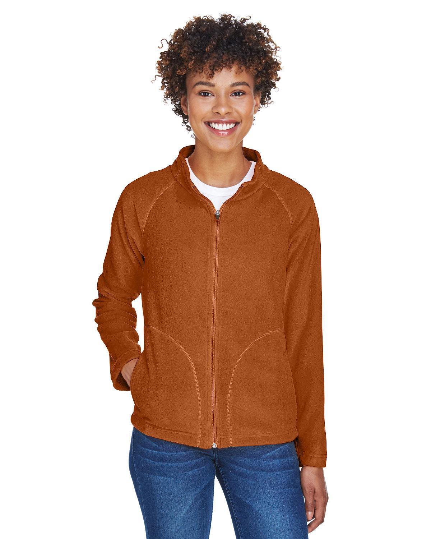 Team 365 Ladies' Campus Microfleece Jacket SPORT BNRT ORNGE