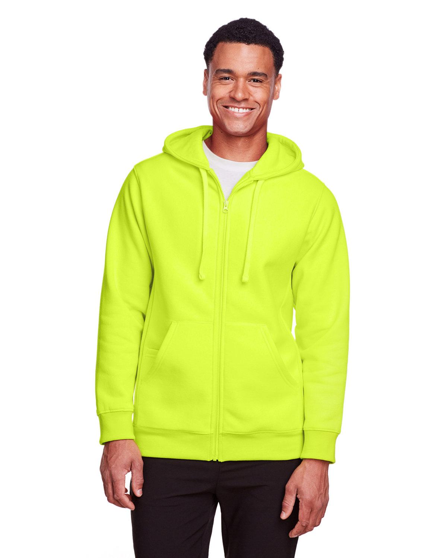 Team 365 Men's Zone HydroSport™ Heavyweight Full-Zip Hooded Sweatshirt SAFETY YELLOW