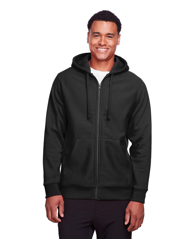 Team 365 Men's Zone HydroSport™ Heavyweight Full-Zip Hooded Sweatshirt BLACK