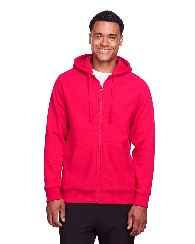 Team 365 Men's Zone HydroSport™ Heavyweight Full-Zip Hooded Sweatshirt SPORT RED
